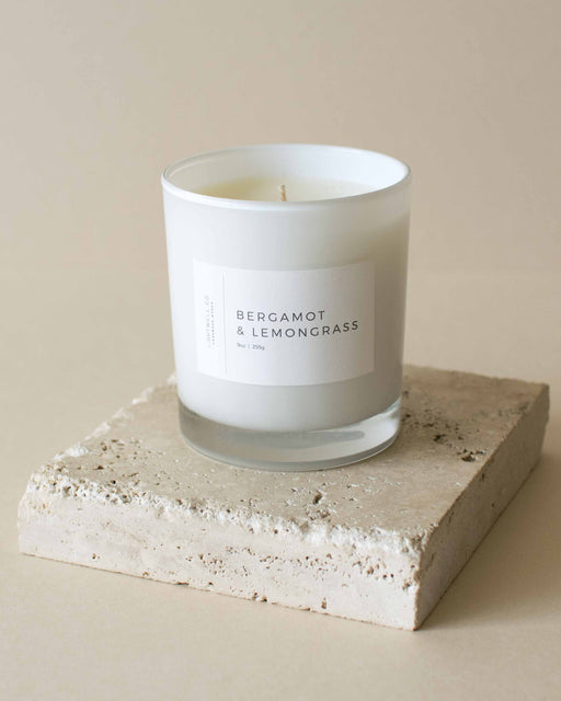 Lightwell Co - Bergamot & Lemongrass White Tumbler