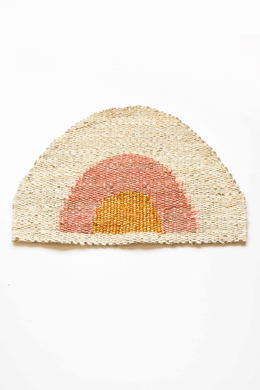 Sonny Round Doormat - Peach + Gold