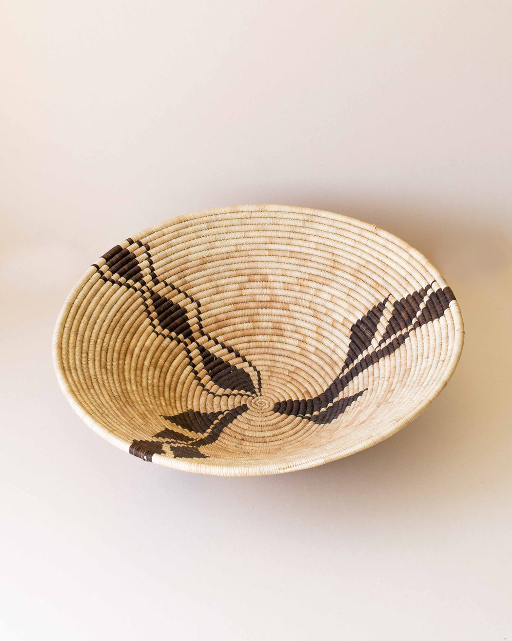 Large Tan + Brown Coiled Basket