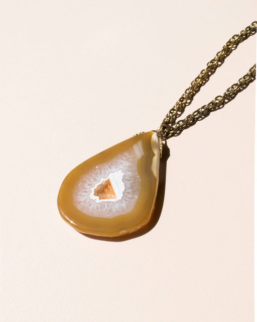 Agate + Brass Necklace