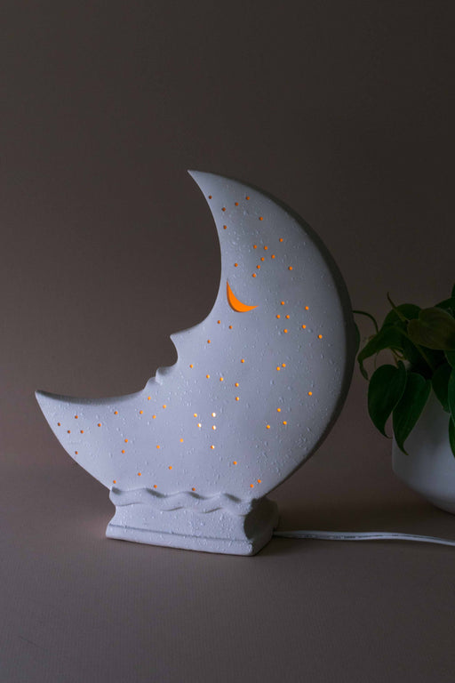 Ceramic Moon Lamp