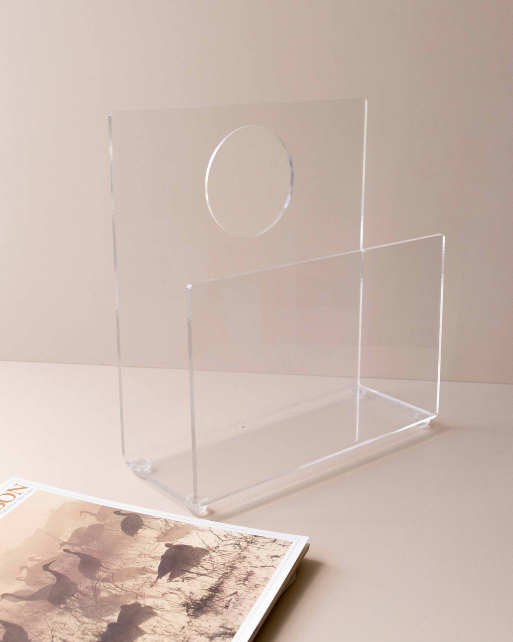 Lucite Ghost Magazine Rack