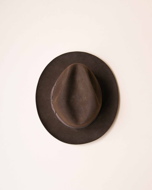 Brown Stetson Felt Brimmed Hat