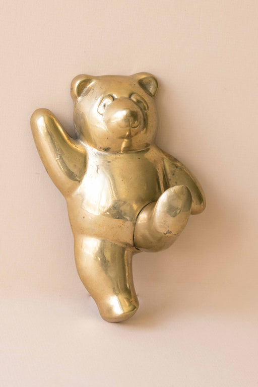 Brass Teddy Bear Wall Hook