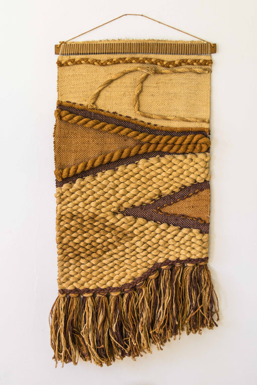 Cream + Brown Woven Wall Hanging