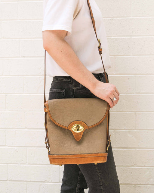 Taupe + Brown Dooney Crossbody