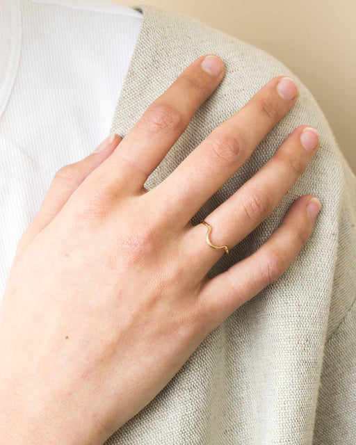 Goldeluxe - Arc Stacking Ring | 14k Gold Fill