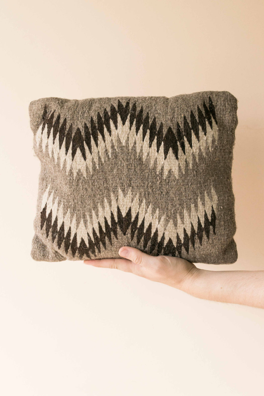 Grey Zig Zag Kilim Pillow