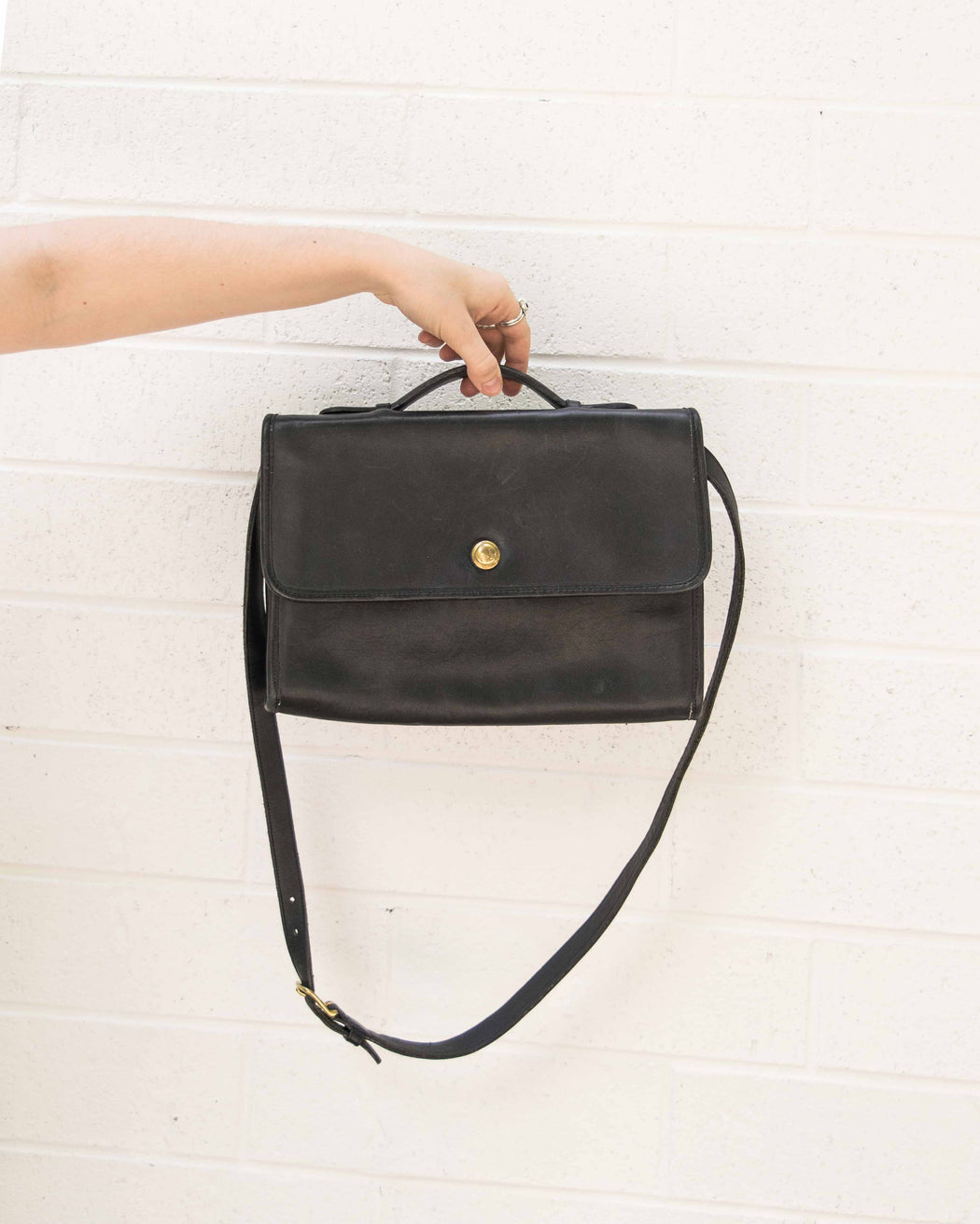 Black Coach Messenger Bag