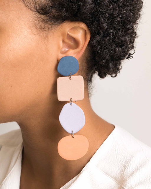 Long Column Earrings - Four Eyes Ceramics