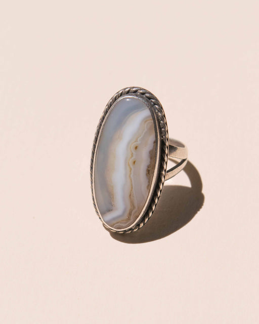 Agate + Sterling Ring - Size 7
