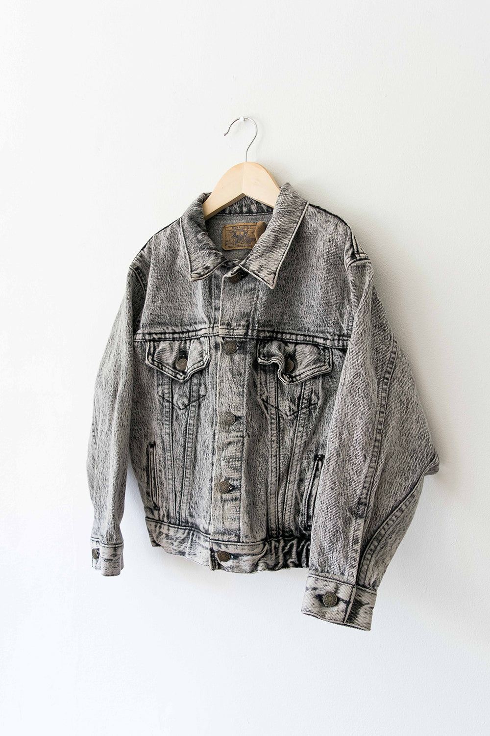 Plain Pockets Acid Wash Denim Jacket