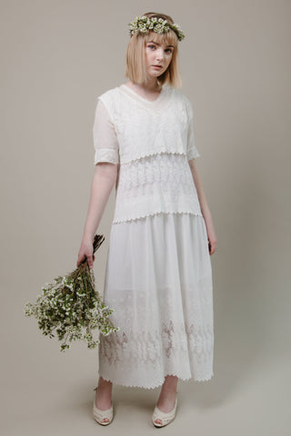 Edwardian Tiered Lace Dress - BRIDAL - Meek Vintage - 1