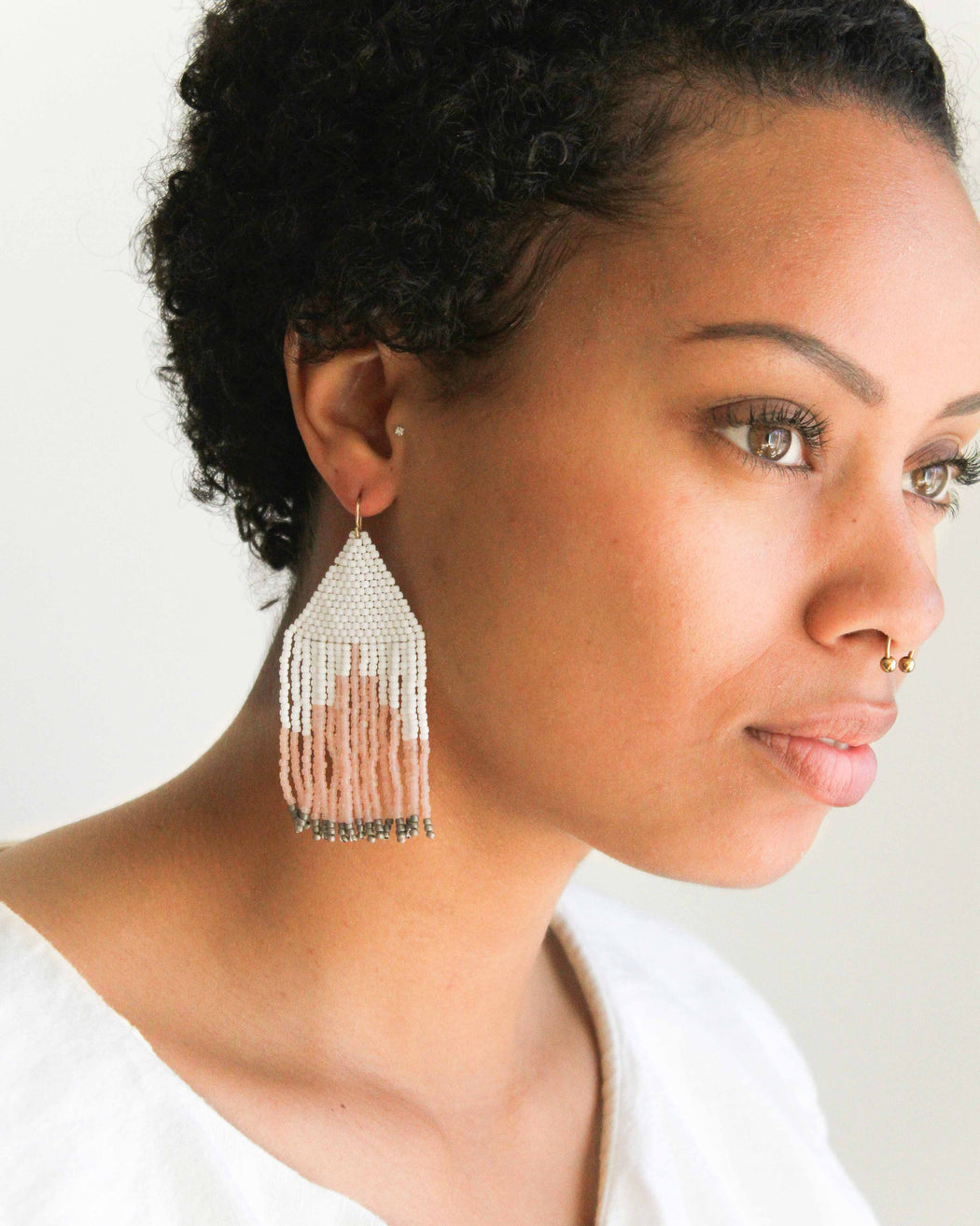 Rose Salt Earrings - Weave Gold
