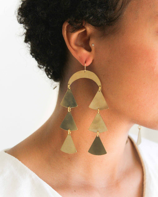 Blade & Knoll Brass Daijanna Dangle Earrings