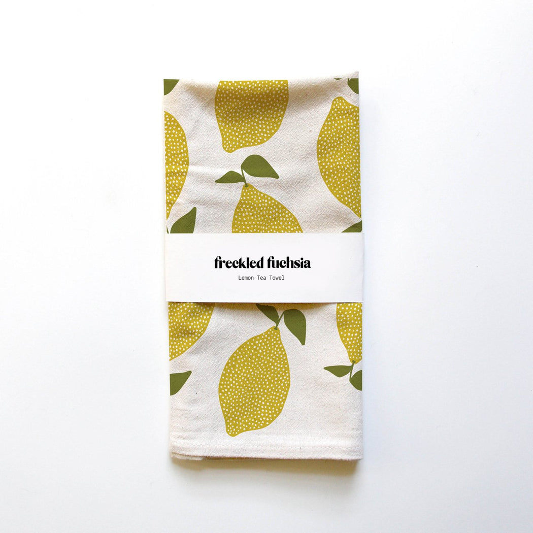 Freckled Fuchsia - Tea Towel - Lemon