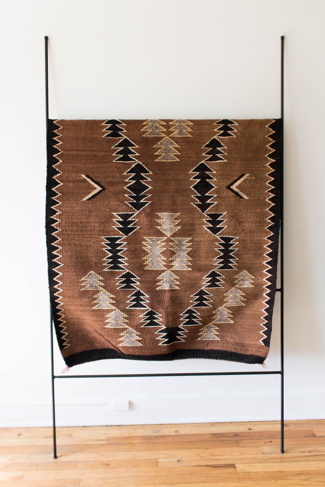 Brown + Black Navajo Rug