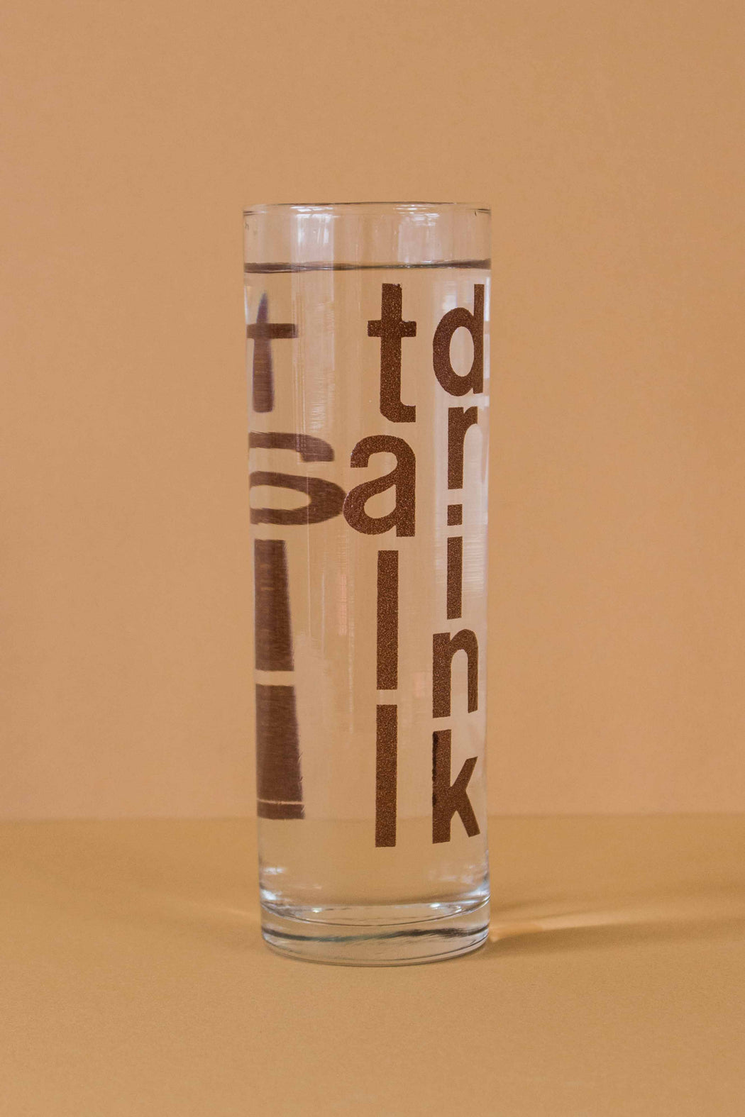 Tall Drink Typographic Glasses