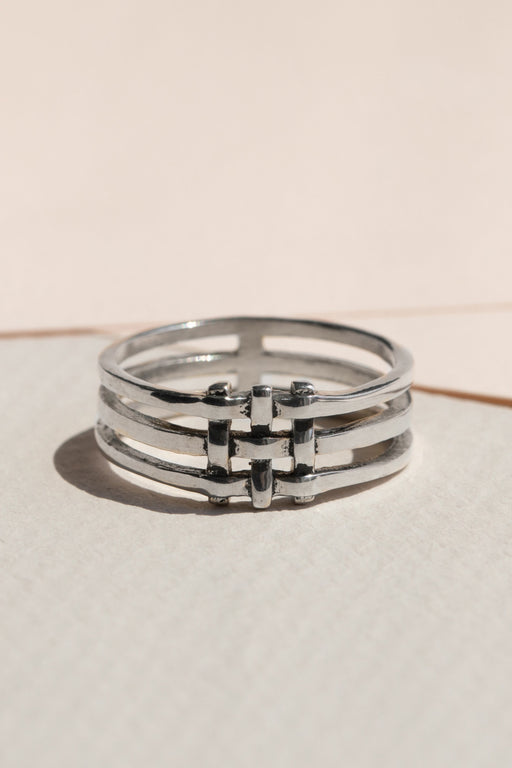 Lindsay Lewis - Crosshatch Ring - Sterling