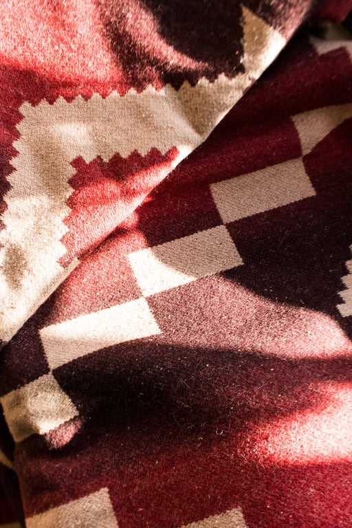 Red + Cream Southwest Blanket