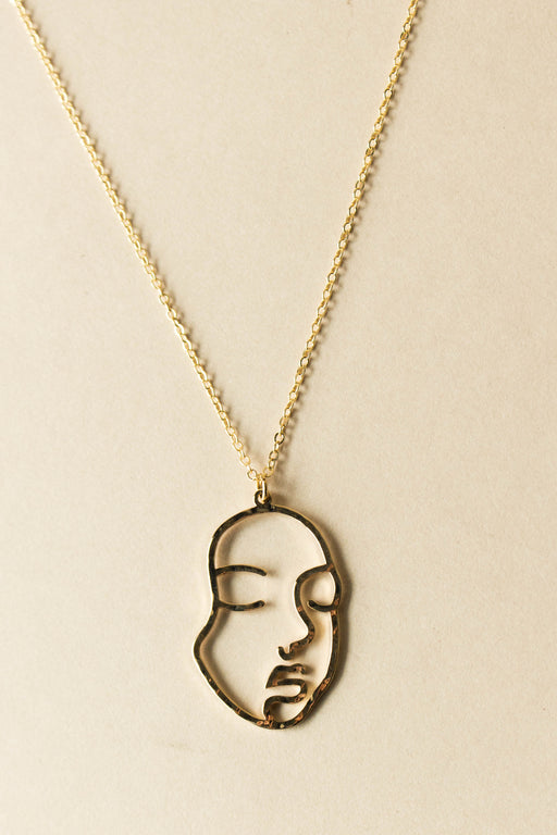 Océanne - Face Outline Necklace