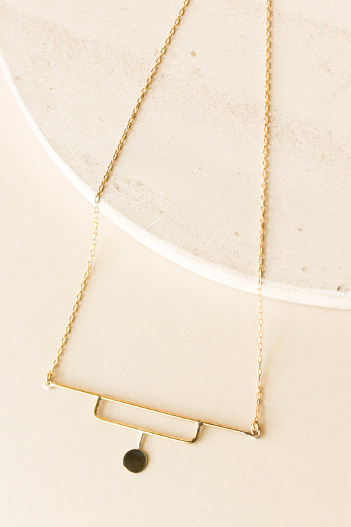 Blade & Knoll - Brass Luna Necklace