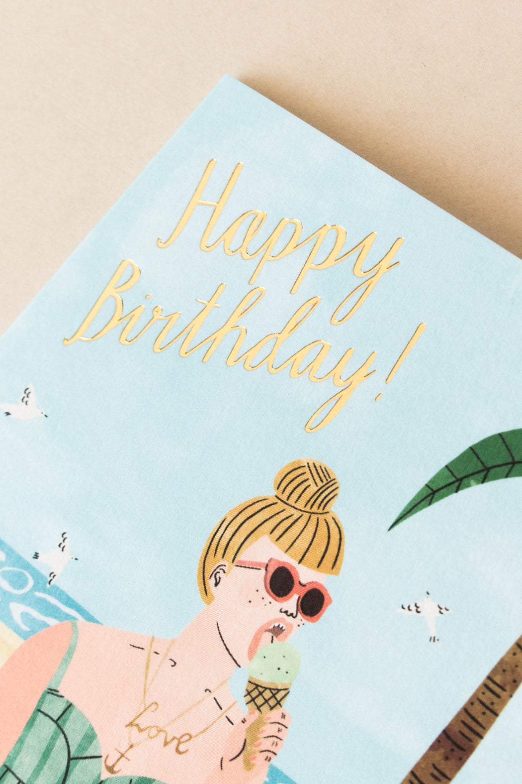 Wrap - Beach Happy Birthday Card