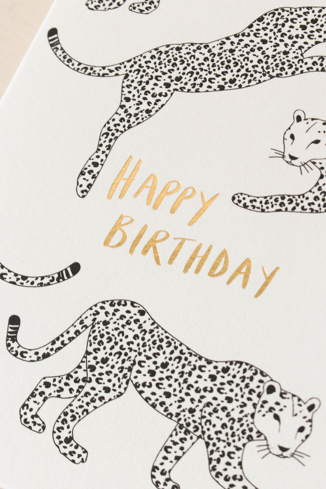 Kinshipped - Leopard Happy Birthday Card