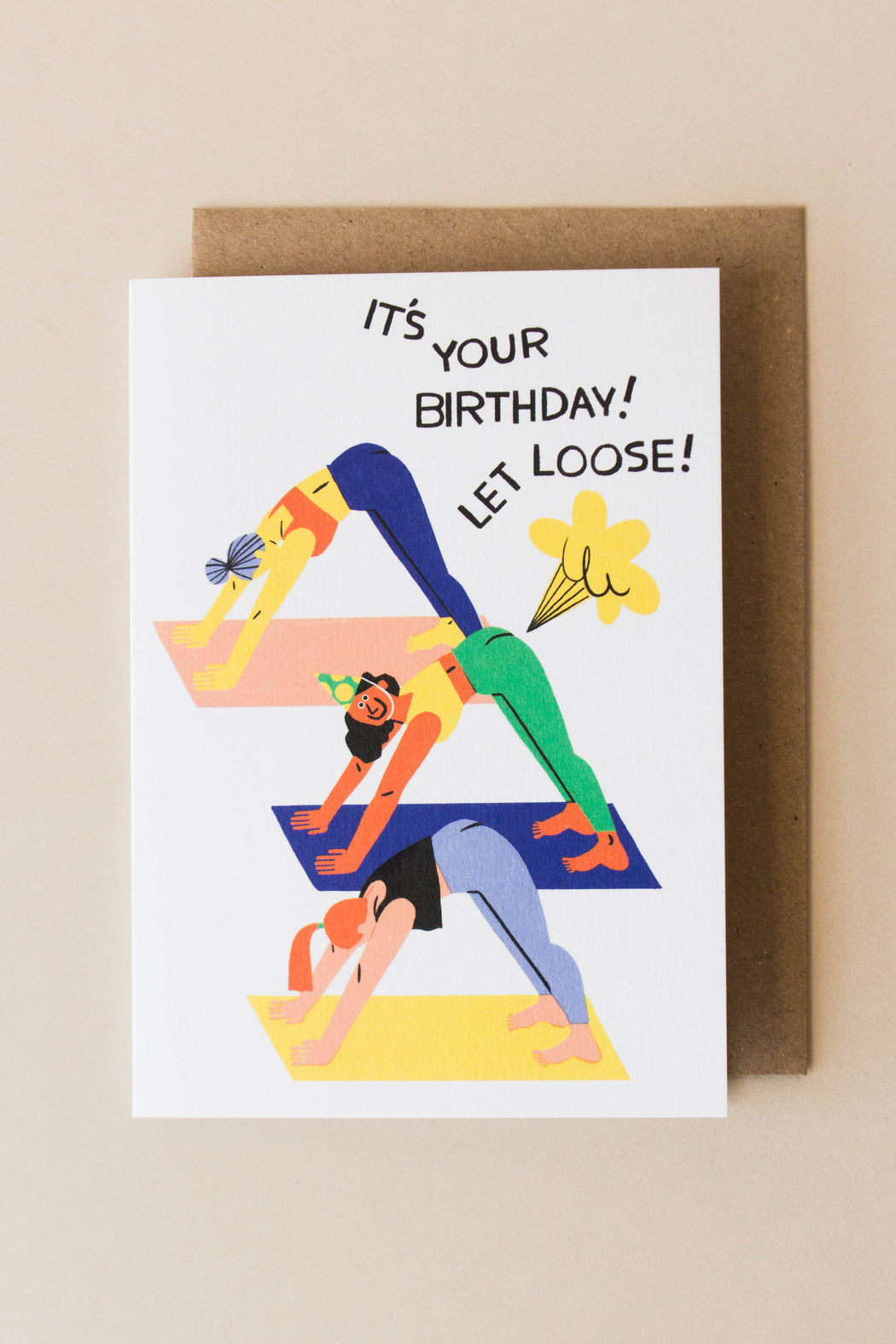 Wrap - Let Loose Yoga Birthday Card