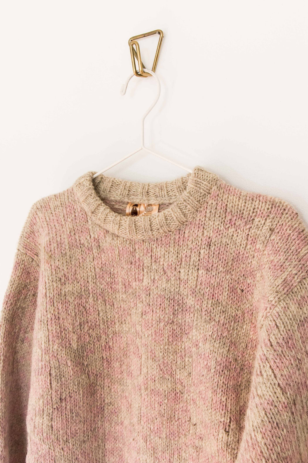 Blush + Grey Heather Wool Sweater
