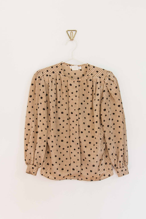 Cream + Black Polka Dot Blouse