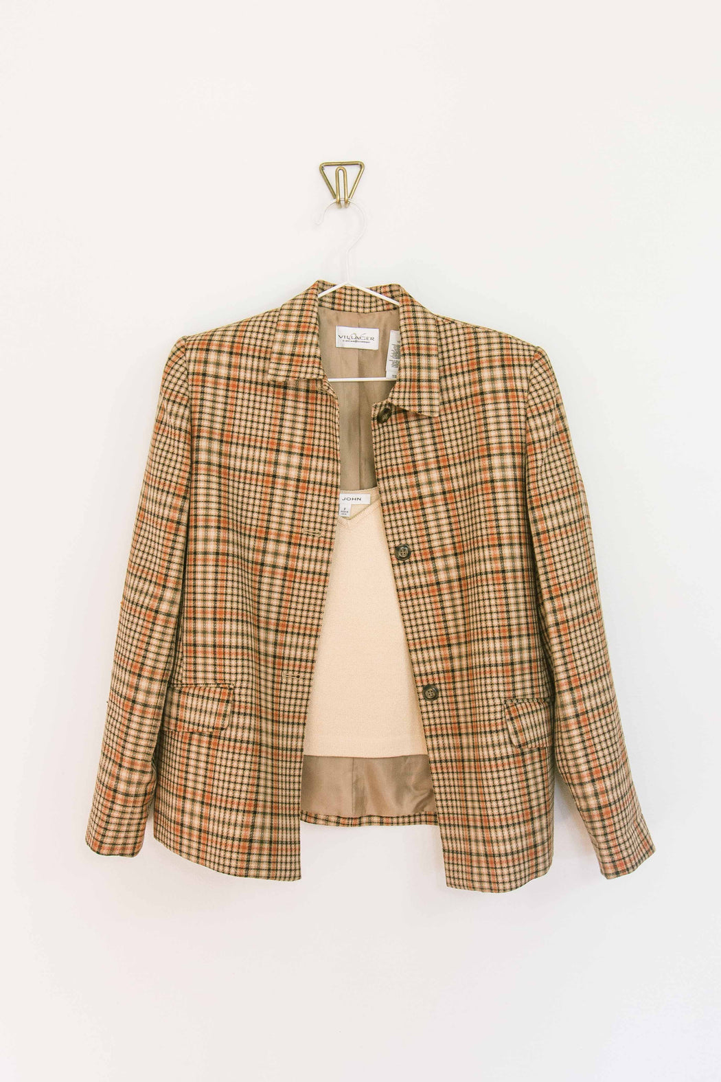 Neutral Plaid Blazer
