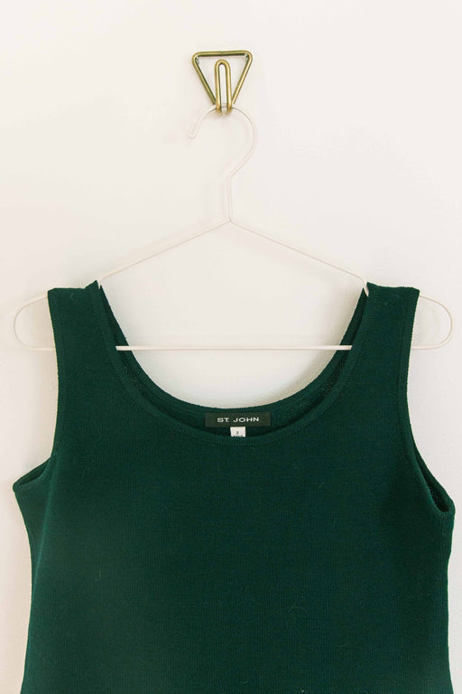 St John Emerald Ribbed Tank