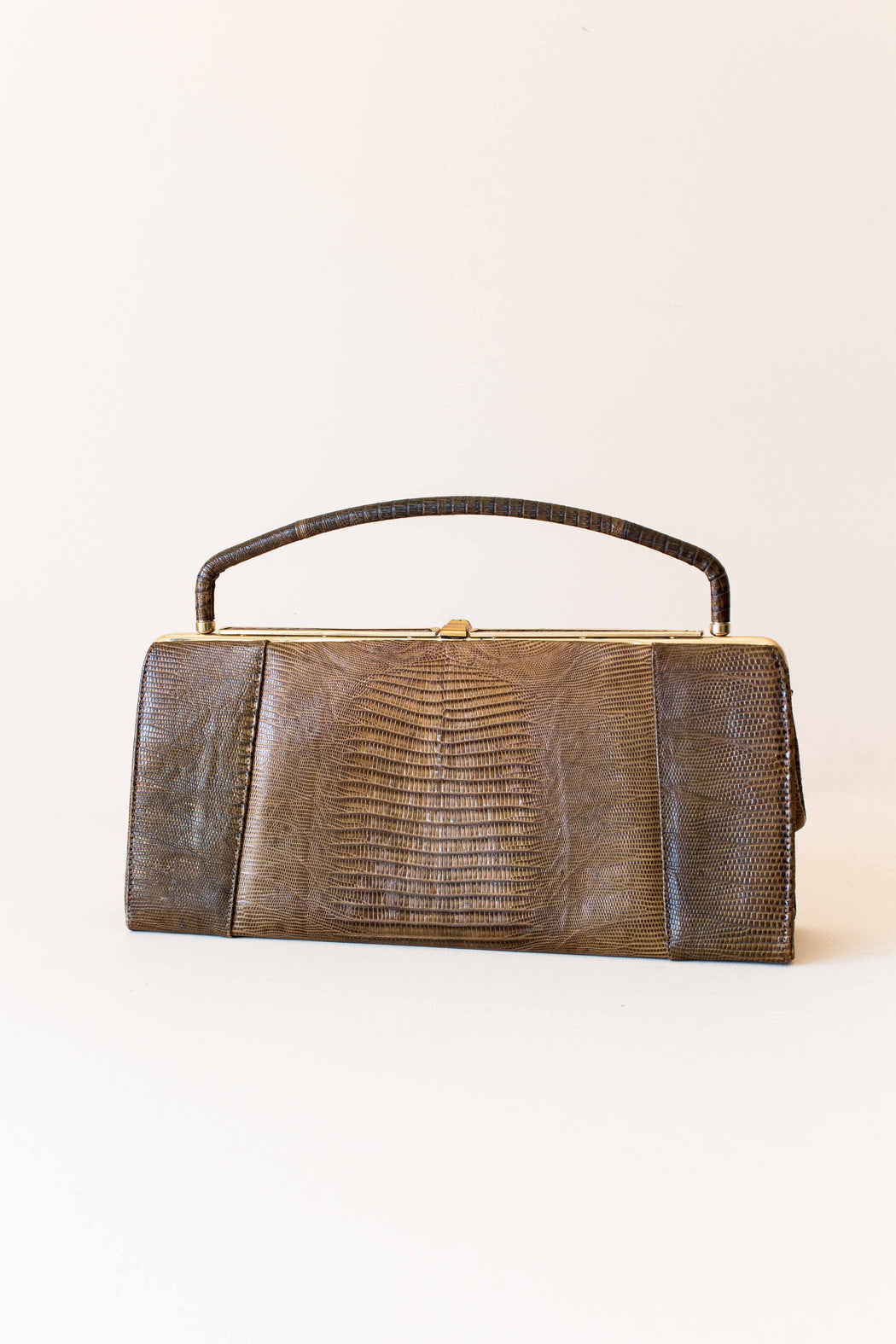 Vintage Light Brown Palizzio Reptile Skin Purse