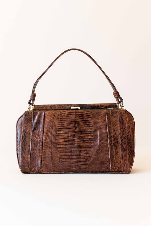 Vintage Brown Reptile Skin Purse