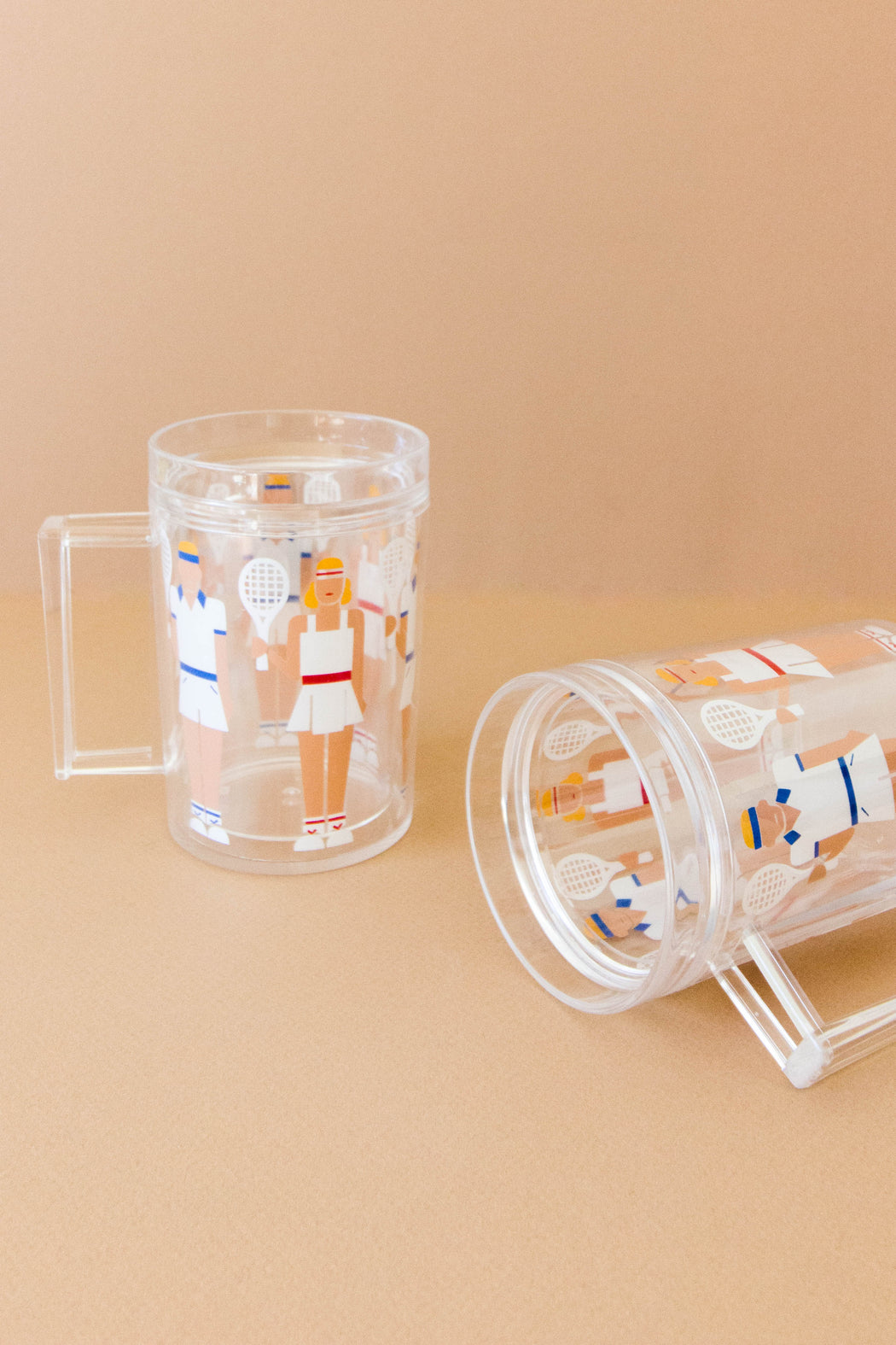 Vintage Tennis Beer Mugs - Set of 2