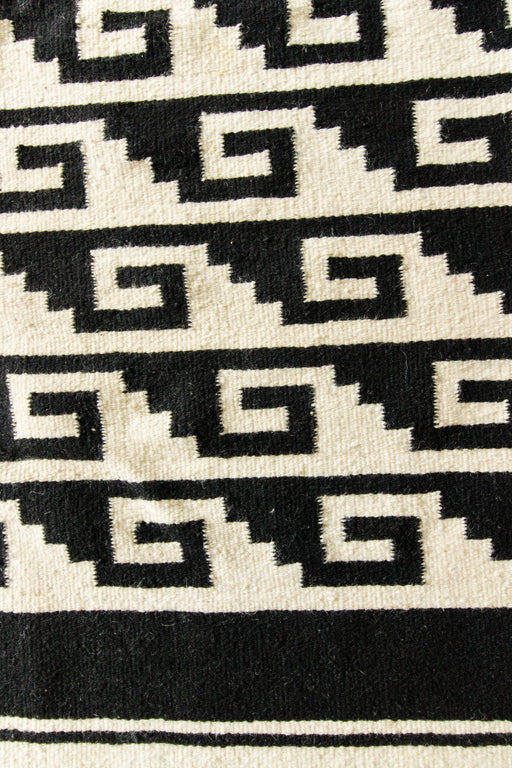 Black + Cream Wool Textile