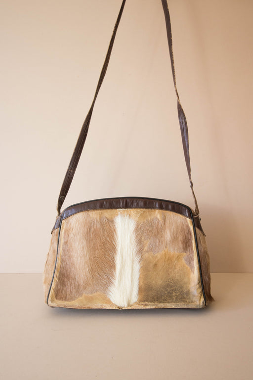Cowhide Purse W/ Adjustable Strap