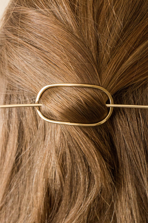 Desert Rose Jewelry - Oval Golden Sands Hair Pin