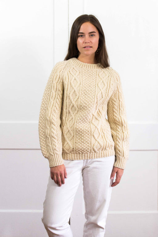 Irishwoven Cream Cableknit Fisherman Sweater