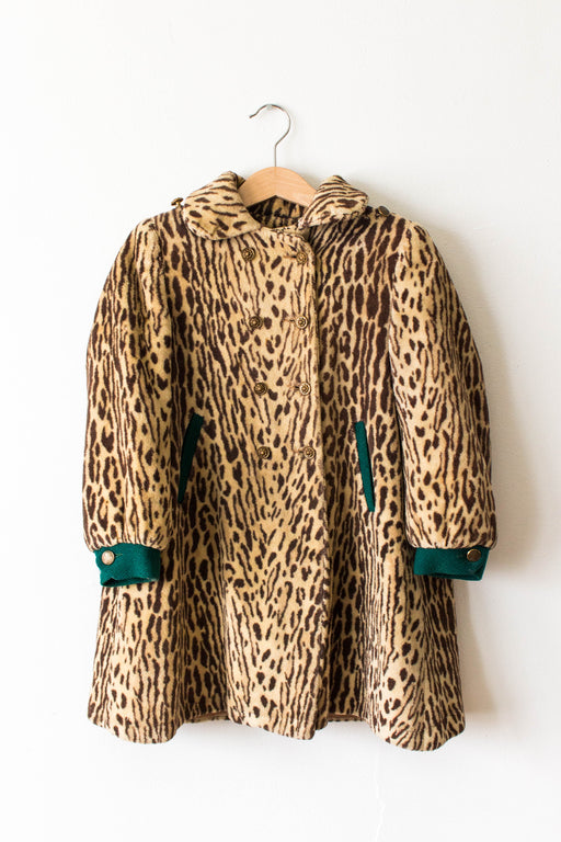 Kid's Leopard Swing Coat