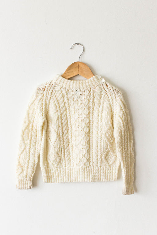 Kid's Cable Knit Sweater W/ Buttons