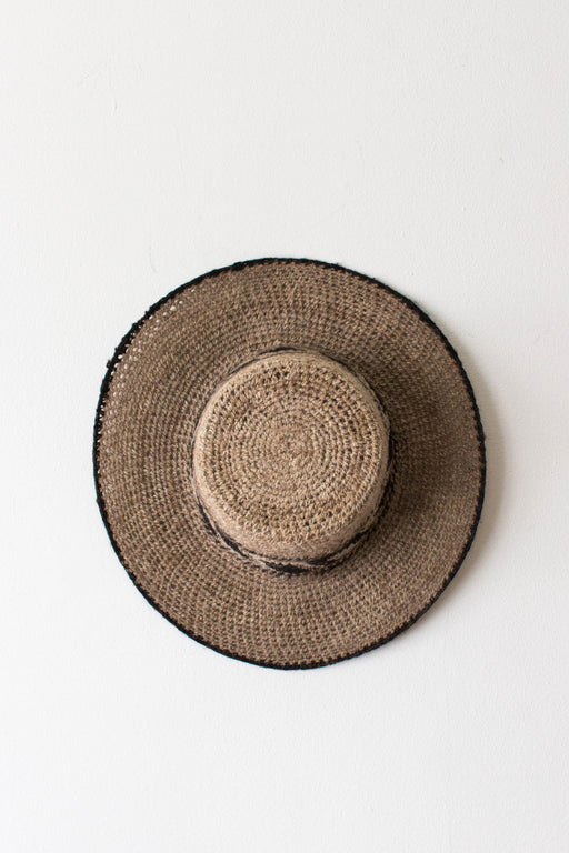 Tan Woven Brimmed Hat
