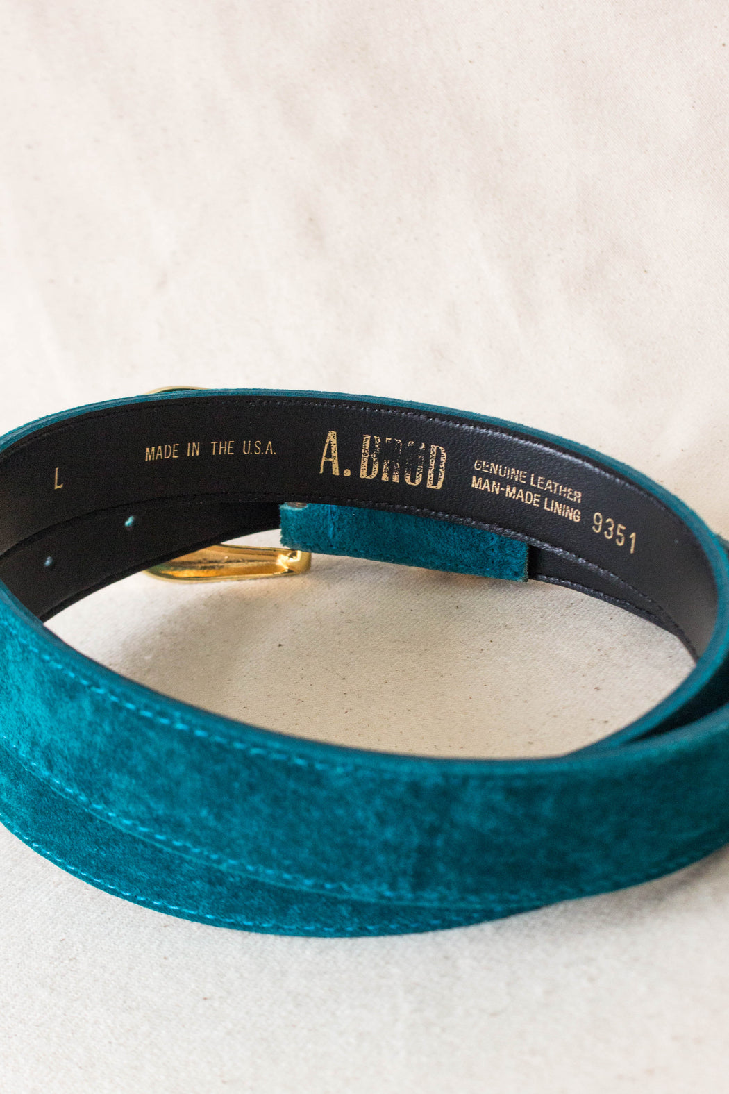 Teal Suede Belt