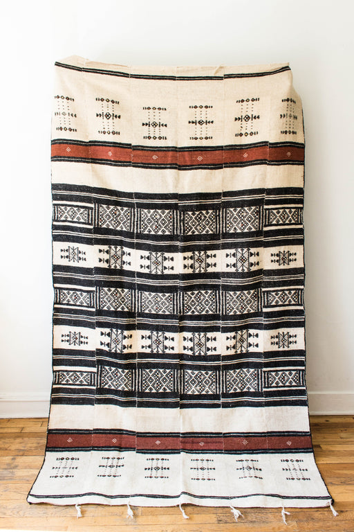 Cream + Brown Geometric Textile