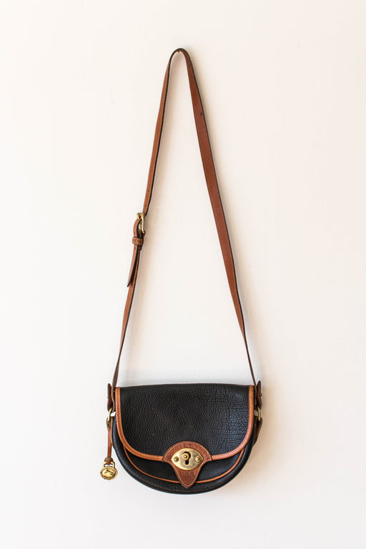 Navy + Brown Dooney Crossbody