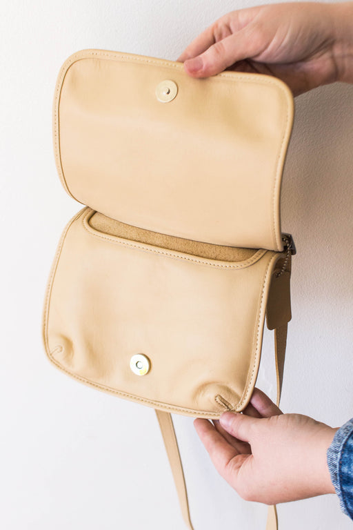 Slim Cream Coach Crossbody