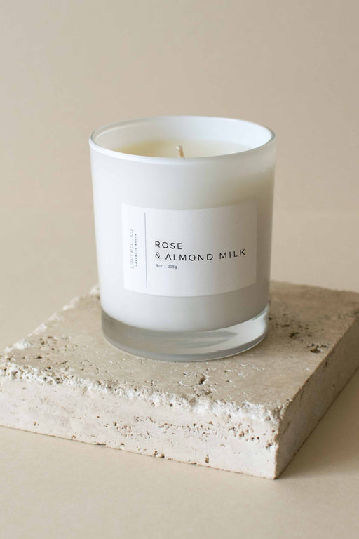 Lightwell Co - Rose & Almond Milk Candle