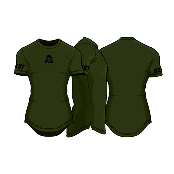 Deep Olive/Black | Scoop Perform Tee™