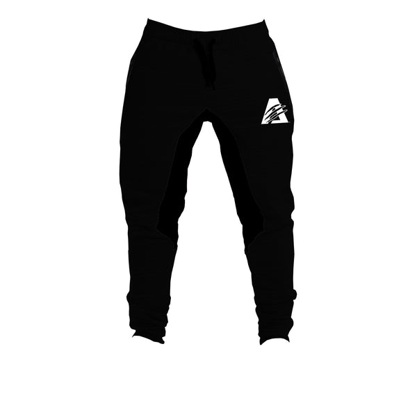 Black/White | AlphaTECH™ | FITTED Joggers